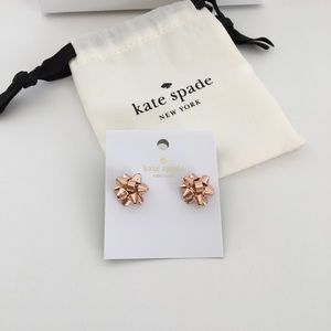 NEW! Kate Spade Rose Gold Bow Earrings